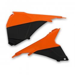 UFO - Cache Boîte Air Orange/Noir Compatible Ktm 125 250 350 450 Sx Sxf 13-14