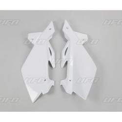 DESTOCKAGE - UFO - Plaques Latérales Blanc Compatible Husqvarna 125 250 Cr Wr 06-08 + 250 450 Tc Te 05-07