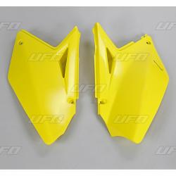 DESTOCKAGE - UFO - Plaques Latérales Jaune Compatible Suzuki 250 Rmz 07-09