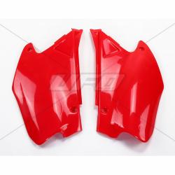DESTOCKAGE - UFO - Plaques Latérales Rouge Compatible Honda 125 250 Cr 00-01