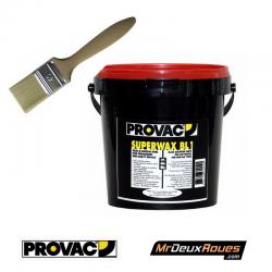 Pack Crème De Montage Pneu Noir 1kg Provac & Pinceau 40 cm - Auto Moto Vélo Quad