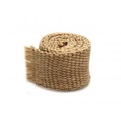 Bande thermique collecteur échappement ACOUSTA-FIL 50mm x 7,5m 650°C marron café racer