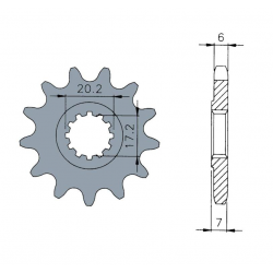 B1 - Pignon Standard 13 Dents Chaine 420 Compatible Derbi Senda/Drd À Partir De '00