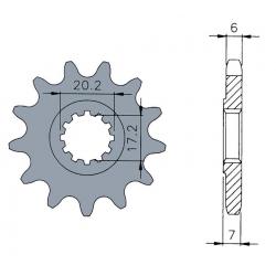 ASSA - Pignon Standard 12 Dents Chaine 420 Moteurs Am6
