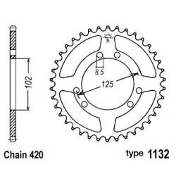 B1 - Couronne Acier 53 Dents Chaine 420 Compatible Derbi Senda Drd/Bultaco Astro