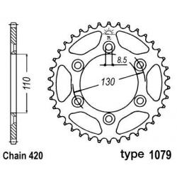 B1 - Couronne Acier 62 Dents Chaine 420 Cpi Supermotard 50