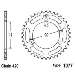 B1 - Couronne Acier 47 Dents Chaine 420 Rieju Rs2 Matrix