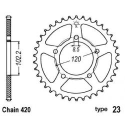 B1 - Couronne Acier 47 Dents Chaine 420 Compatible Aprilia Rs50