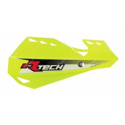 RACETECH - Protèges Mains Dual Moto Cross Jaune Fluo