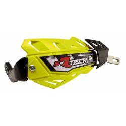 RACETECH - Protèges Mains Intégraux Flx Alu Intégral Jaune Fluo Avec Renfort Alu (Sans Kit De Montage)