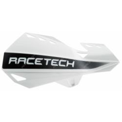 RACETECH - Protèges Mains Dual Moto Cross Blanc