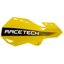 RACETECH - Protèges Mains Dual Moto Cross Jaune