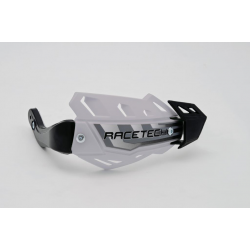 DESTOCKAGE - RACETECH - Protèges Mains Intégraux Flx Alu Spécial Quad Blanc