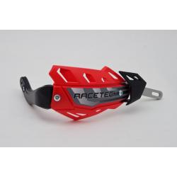 DESTOCKAGE - RACETECH - Protèges Mains Intégraux Flx Alu Intégral Rouge Avec Renfort Alu (Sans Kit De Montage)