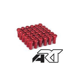 ART - Kit Têtes De Rayon Universel Anodisées Rouge