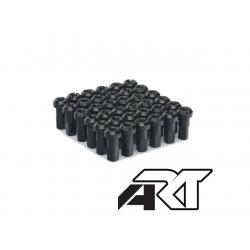 ART - Kit Têtes De Rayon Universel Anodisées Noir