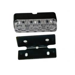 V PARTS - Éclairage LED de plaque d'immatriculation homologué CE avec kit de fixation