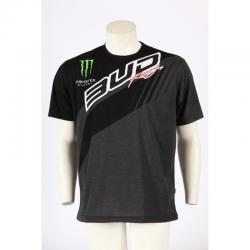 Tee shirt Team Bud Racing Monster Energy 2017 Noir Anthracite chiné