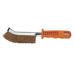 PROVAC - Brosse poils mi-durs 26cm pour nettoyer le trou de valve et  l'accrochage de jante