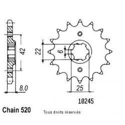 SIFAM - Pignon Acier 15 dents Xl 600 Lm Pd04 85-88 Xl 600 R 83-87