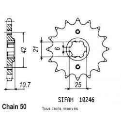 SIFAM - Pignon Acier 17 dents Cbx 550 F 86-87 Cb 650 S Custom 82-84