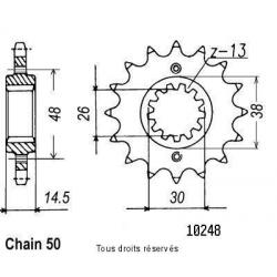 SIFAM - Pignon Acier 17 dents Vfr 800 F 98-01 Cbr 1100 Xx Sp.Blackbird 97-01