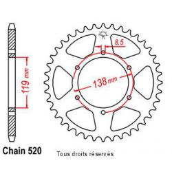 SIFAM - Couronne 48 dents Husaberg Enduro Z48   Pas520/Z48