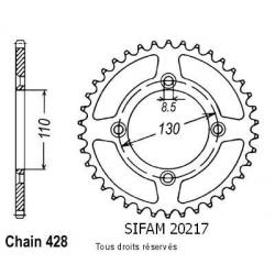 SIFAM - Couronne 49 dents Honda 80 Cr 1986-2001 Pas428/Z49