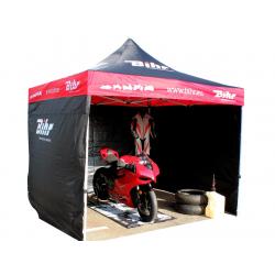 BIHR - Tonnelle Tente de paddock Home Track 3x3m avec 3 cloisons amovibles