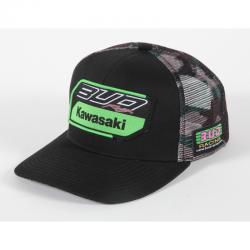 Casquette Team Bud Racing Kawasaki 2019 Noir Camo Snapback - Taille unique