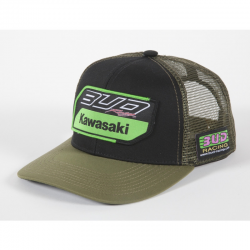 Casquette Team Bud Racing Kawasaki 2019 Noir Army Snapback - Taille unique