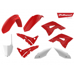 POLISPORT - Kit plastique Mx Restyle origine compatible Honda 125 250 CR 04-07